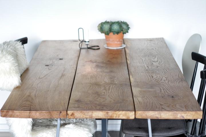 rustikt spisebord Rustikt spisebord i massiv Eg   wild wood | wild wood rustikt spisebord
